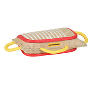 Dog Bite Pad Made of Jute with 3 Handles for Labrador
