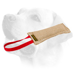 Jute Dog Bite Tug For Labrador  With Handle