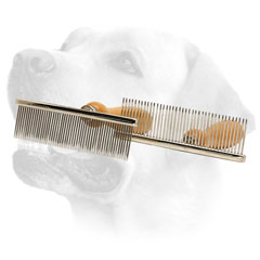 Metal Dog Brush With Wooden Handle for Labrador