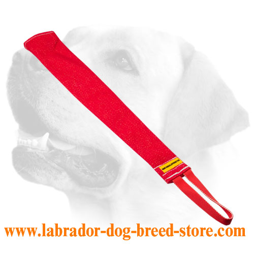 Multifunctional french linen bite rag for Labrador