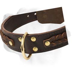 Labrador Wide Decorative Leather Collar