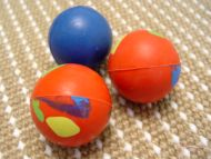 2 1/3 inch (6 cm) Crazy Color Rubber Ball