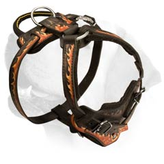 Durable Decorative Handmade Leather Harness For Labrador