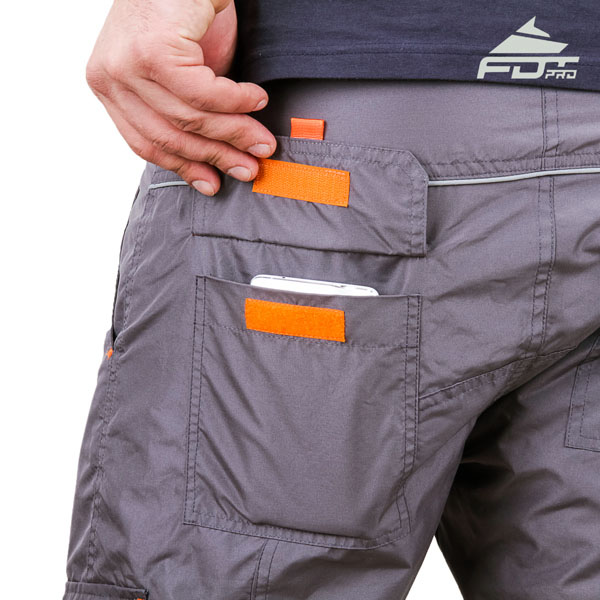 Convenient Design FDT Pro Pants with Strong Back Pockets for Dog Training