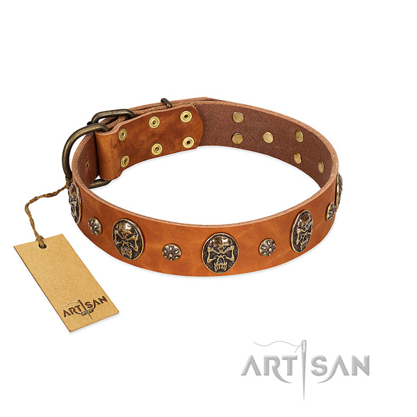 Awesome full grain genuine leather collar for your pet