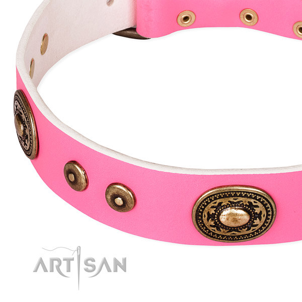 Genuine leather dog collar made of best quality material with studs