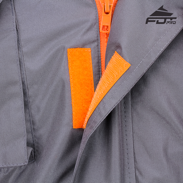 Strong Velcro Fastening on Dog Tracking Jacket for Everyday Use