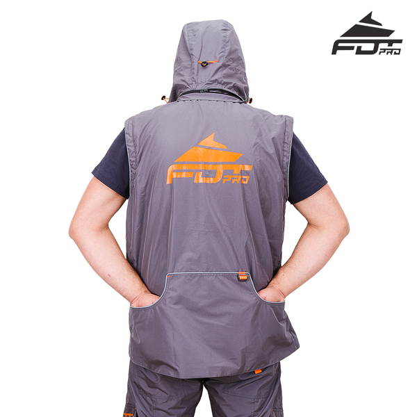 Top Notch Dog Training Suit of Grey Color from FDT Pro Wear