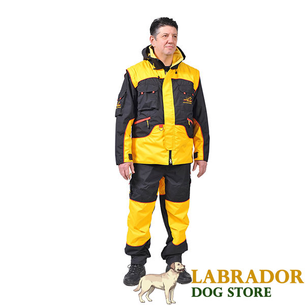 Pro Dog Training Suit of Waterproof Membrane Fabric