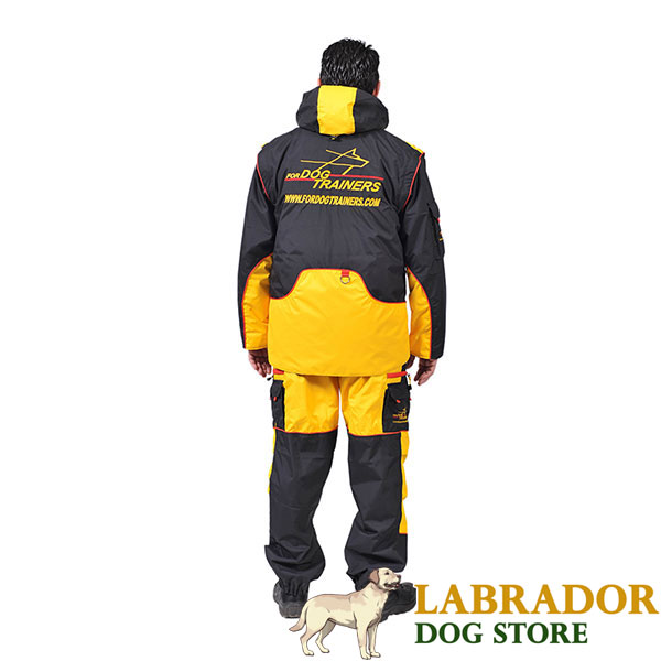 Membrane Material Dog Training Bite Suit with Back Pockets