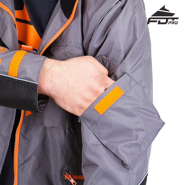 Strong Sleeve Pocket on Professional Design Dog Trainer Jacket