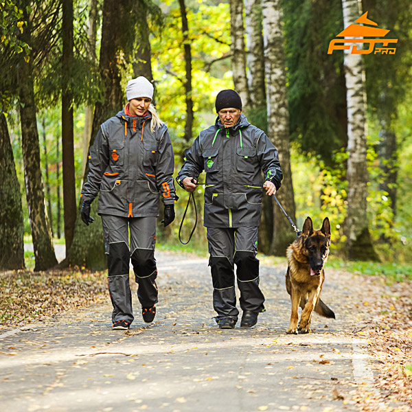 Unisex Top Rate Dog Tracking Suit for Men and Women with Reflective Trim