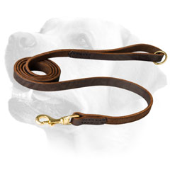 Patrolling Leather Dog Leash With Comfortable Handle For Labrador