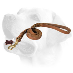 Reliable Leather Dog Leash For Labrador