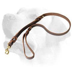 Stitched Leather Dog Leash For Labrador