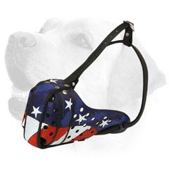 Agitation Training Leather Dog Muzzle For Labrador title=