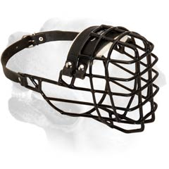 Buckled Wire Basket Muzzle For Bulldog
